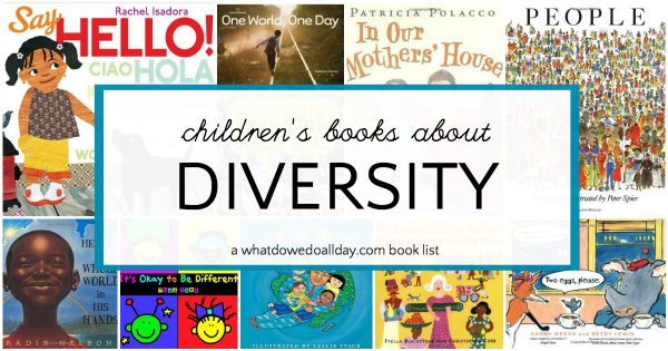 Books about diversity for kids to teach about multiculturalism.
