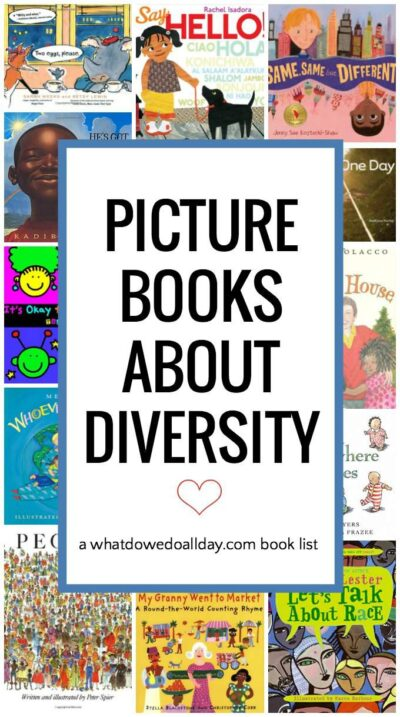 Books about diversity to teach kids about multiculturalism.