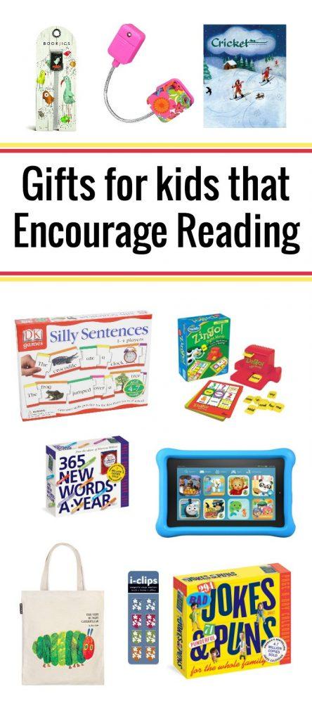 Gifts for kids that encourage reading and literacy skills.