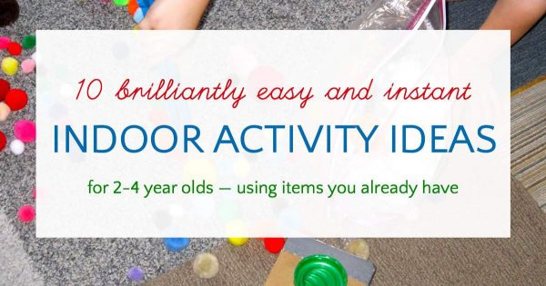 Easy and quick activities for 2-4 year old kids.