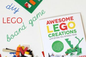 DIY LEGO board game for kids