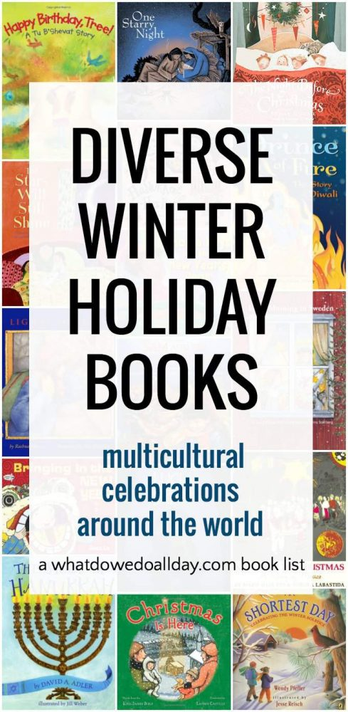 Multicultural winter picture books for kids to learn about holidays around the world.