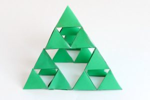 Sierpinski Fractal Triangle: Holiday Math Art for Kids
