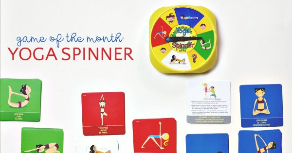 Yoga Spinner is an active indoor game for kids