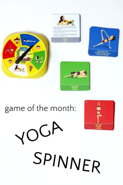 Yoga Spinner game for kids and families.