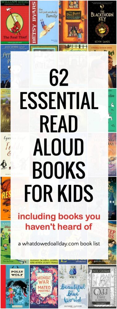 Essential read aloud books for kids that the whole family will enjoy listening to.