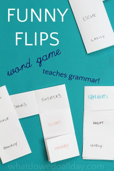 Easy to make fun word games for kids
