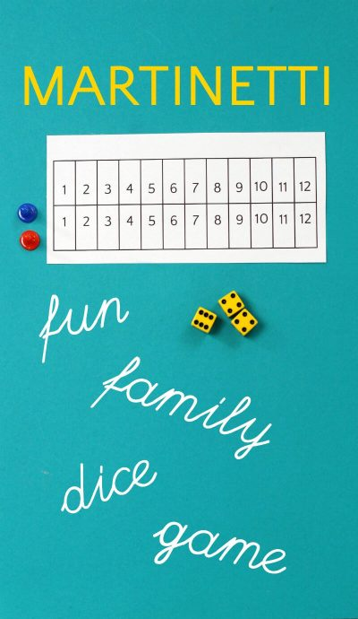 Martinetti is a fun family dice game kids of all ages will enjoy.
