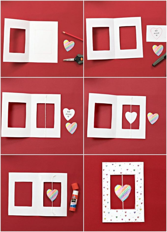 How to make spinner valentine cards