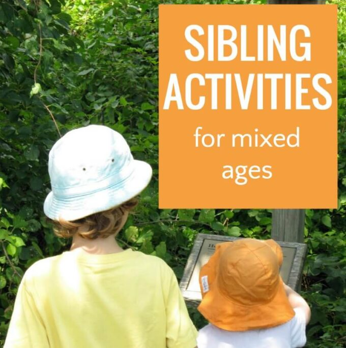 Fun sibling activities for kids