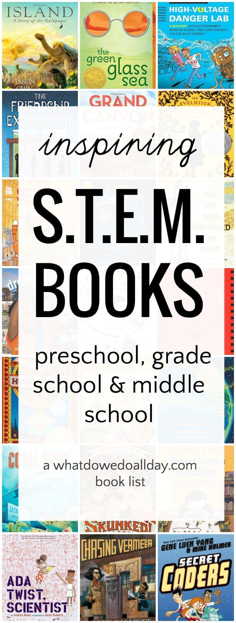 STEM books for kids for all ages. Great for a STEAM and STEM curriculum.