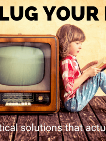 How to unplug your kids and limit screen time.