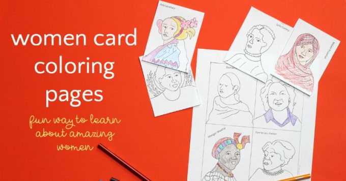 The Women Cards Women S History Month Coloring Pages