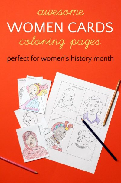 Coloring pages for women's history month