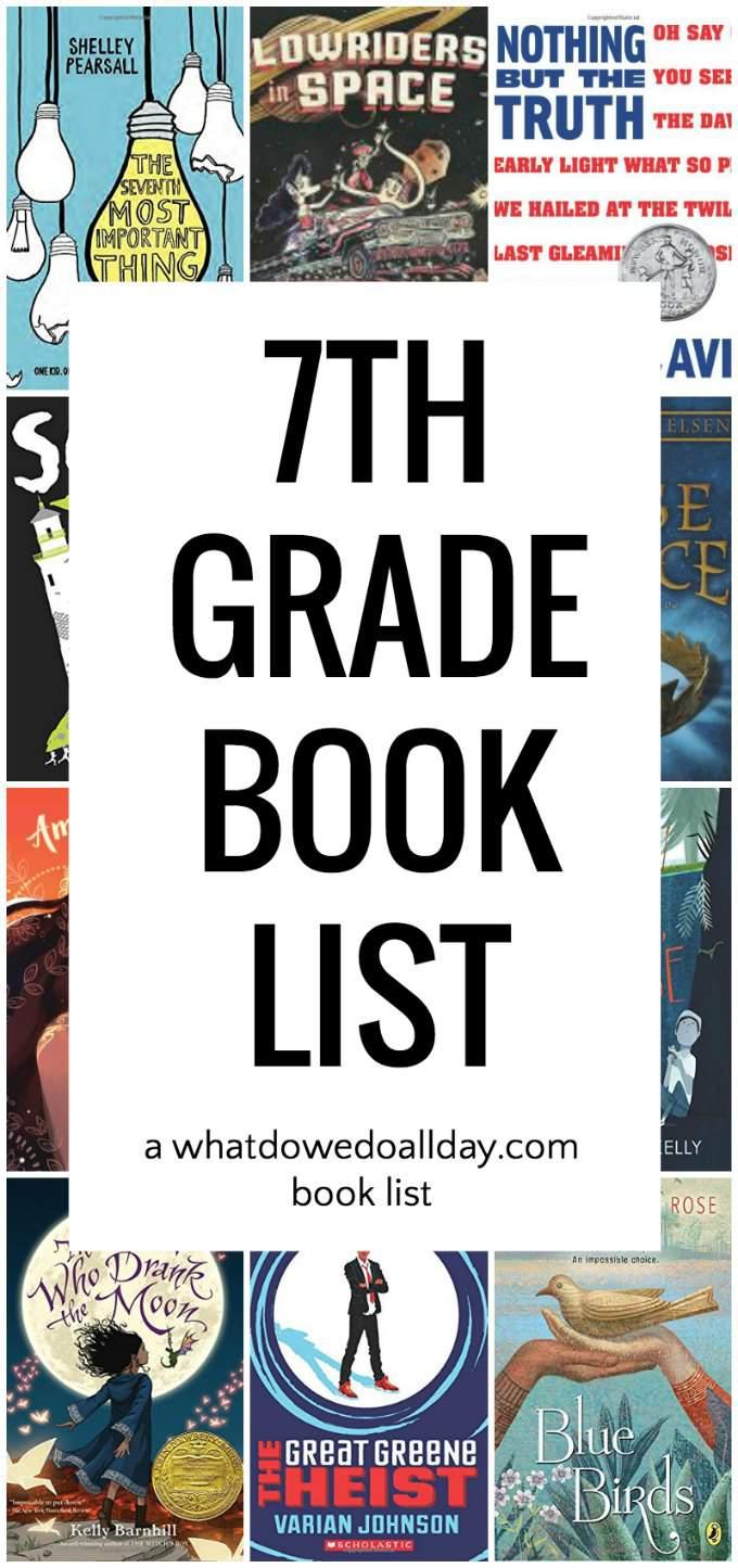 7th grade book list