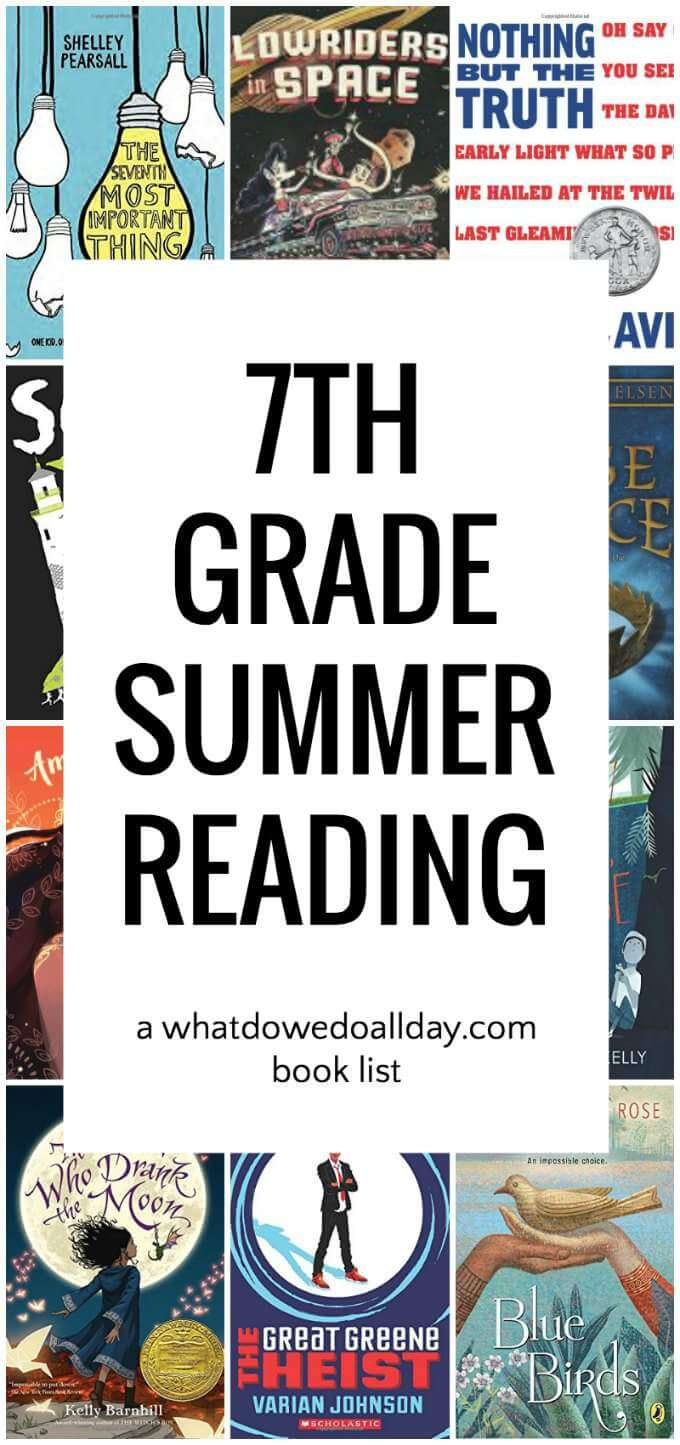 Summer reading list for 7th grade
