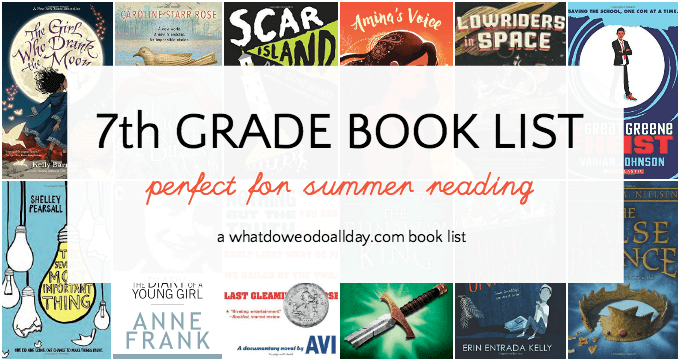 7th grade summer reading book list