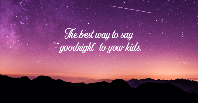 Bedtime poetry and goodnight poems for kids