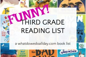 List of funny 3rd grade books