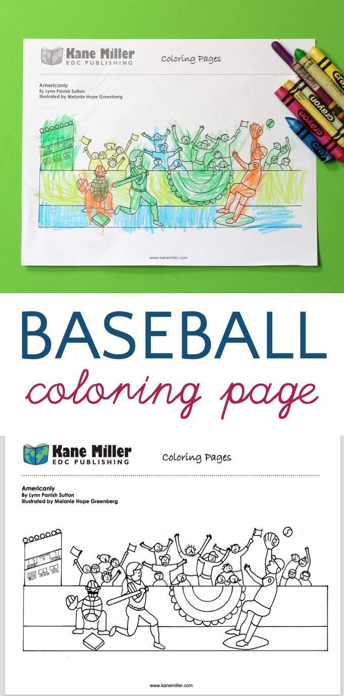 Baseball 9th inning coloring page