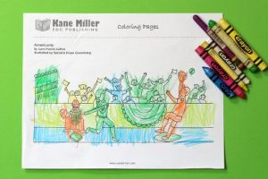 Cheering Fans At A Baseball Game Coloring Page