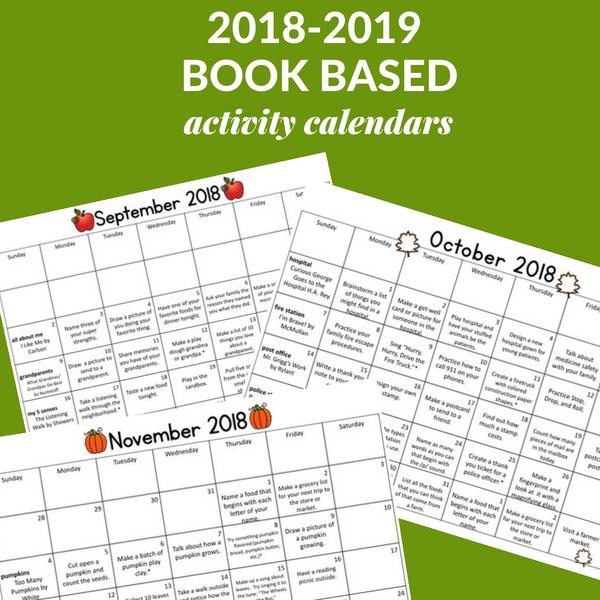 Book activity calendar