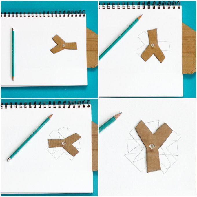 Rotational symmetry art activity in progress