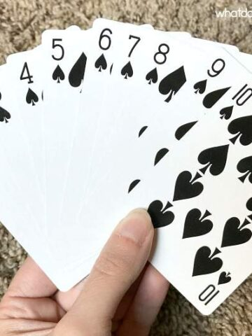 10 cards for math card puzzle
