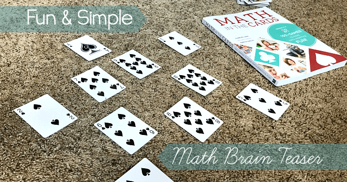 Math card brain teaser puzzle for kids