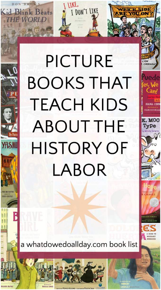 Children's picture books about labor