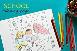 Reduce Back to School Anxiety with Coloring Pages