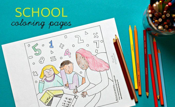 Apple Picking Coloring Pages : Reduce back to school anxiety with coloring pages