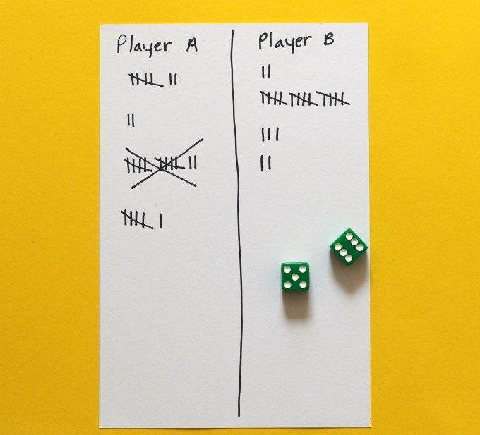 how to keep score in pig dice game