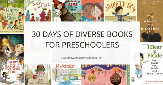 Diverse picture books for preschoolers.