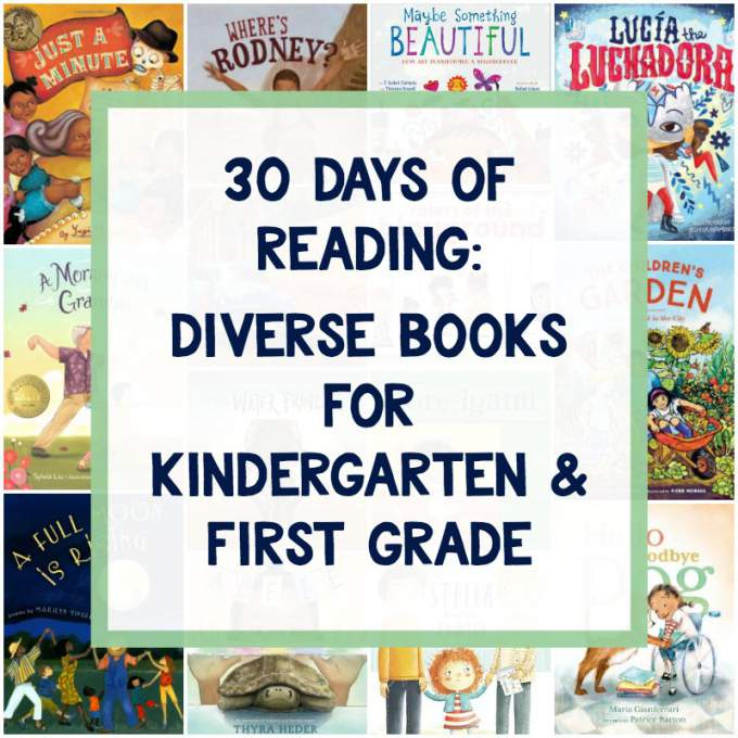 Diverse books for first grade and kindergarten.