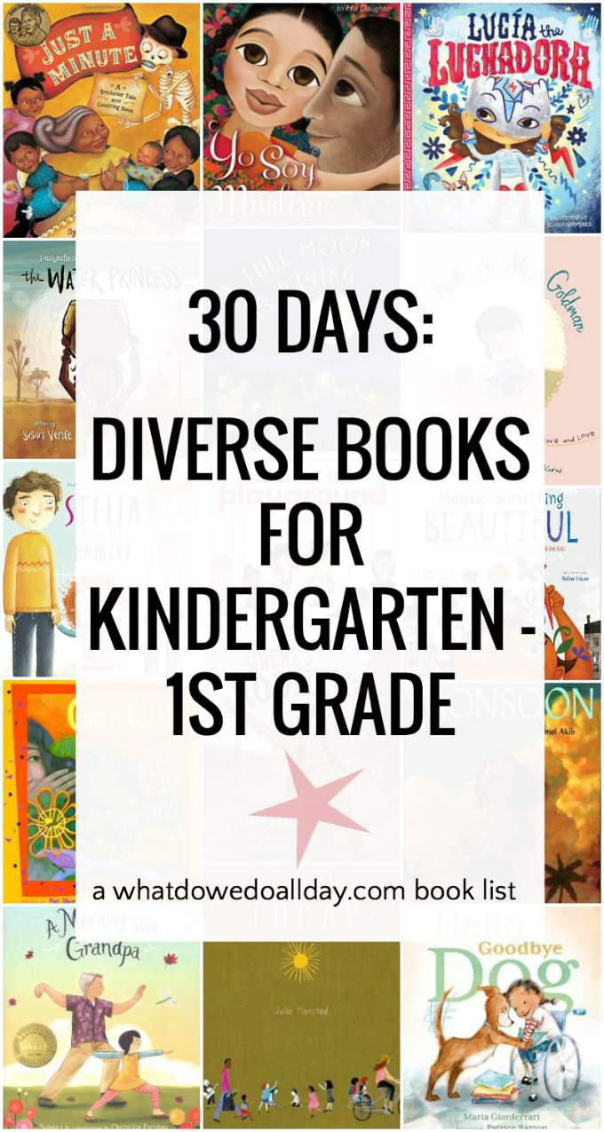 Diverse books for ages 4-8