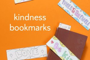 Peace, Love & Kindness Bookmarks: A Coloring Page