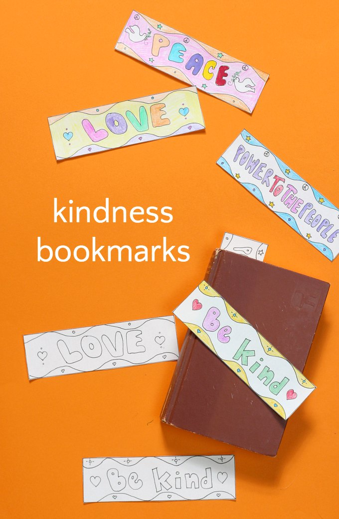 Peace Love Amp Kindness Bookmarks A Coloring Page