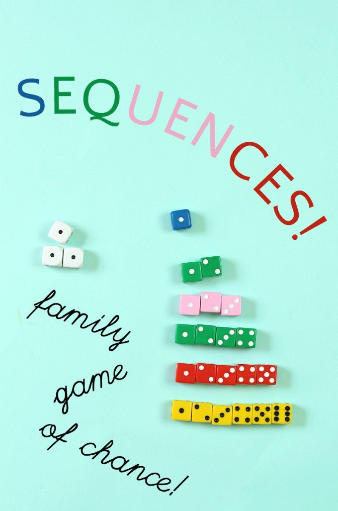 Sequences is a fun family dice game of chance