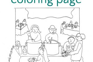 Soup Kitchen Coloring Page