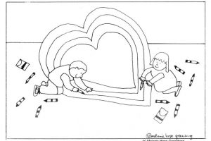 "Deliriously Sweet ""Making a Valentine"" Coloring Page"