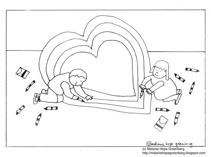 deliriously sweet making a valentine coloring page - Coloring Pages Images