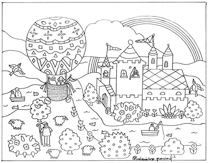 Imaginative Fairy Tale Coloring Page