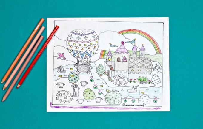 Finished fairy tale coloring pge