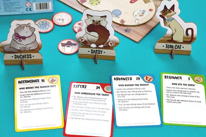 Cat Crimes single player game from ThinkFun