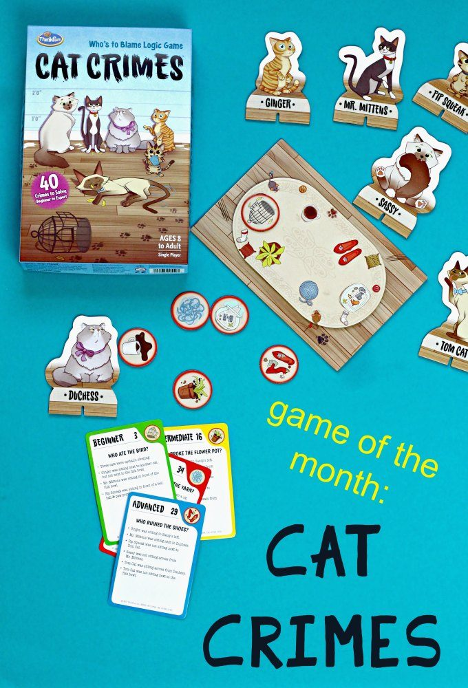 Cat Crimes game for kids from ThinkFun