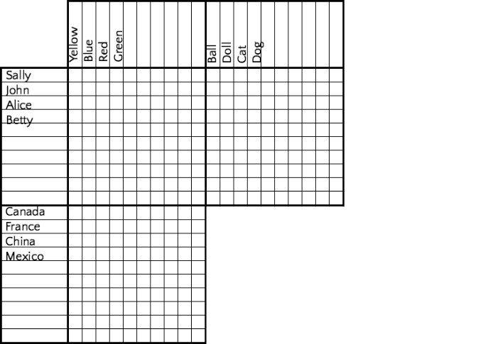 logic puzzle grid