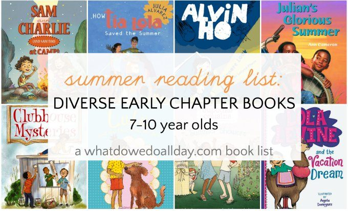 Diverse summer reading list for 7-10 year olds