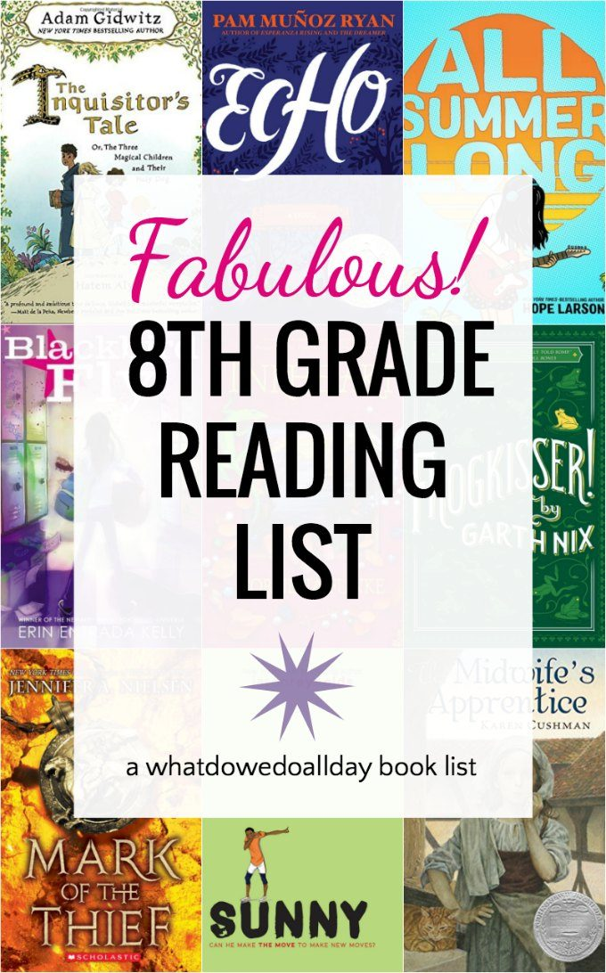 Rising 8th grade reading list