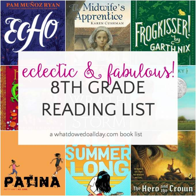 8th grade reading list for 12-14 year olds